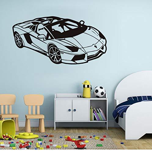 Aceycys moda sport racing car impermeabile stickers murali decorazione della casa rimovibile vinile wall art stickers per la camera dei bambini decorazione della parete 86x44cm