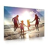 Ihr eigenes Bild auf Acrylglas | 80cm x 55cm | erstellen Sie eigene Urlaubs, Familien oder Hochzeits-Bilder, direkt auf Amazon konfigurieren | Premium Druck-Qualität Brillantes Designobjekt