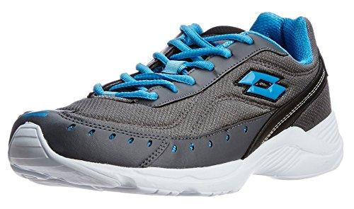 Lotto Men's Rapid Running Shoes Grey & Blue UK-8