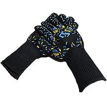 Kepmem Premium Handschuhe Hitzebeständige Grillhandschuhe Qualität Hitzeschutzhandschuhe Backhandschuhe für Mann und Frau(1Paar)