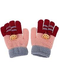 Everpert inverno elastico Girls finger guanti caldi bambini a maglia  stretch Mittens 4a6150f38ce9