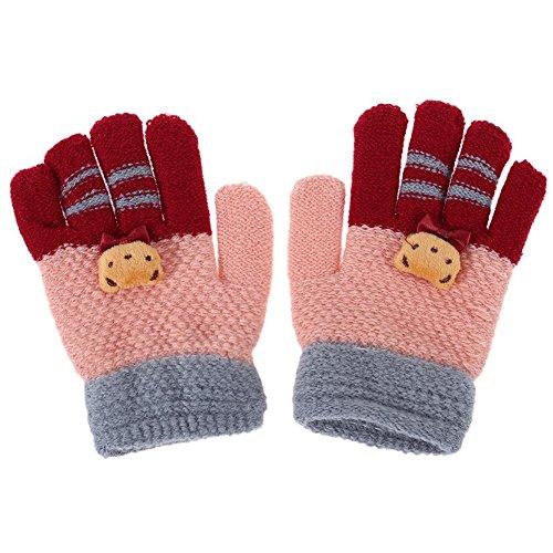 Domybest Winter Baby Kinder Finger Handschuhe Warme Gestrickte Stretch Handschuhe Hände Wärmer (Wärmer Finger)