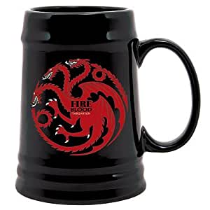 Game of Thrones House of Targaryen Fire and Blood Beer Stein, Black