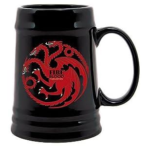 Juego de Tronos SDTHBO02899 - Jarra de cerámica diseño Targaryen, color negro (SD Toys SDTHBO02899) - Jarra cerámica Juego de tronos negra Targaryen