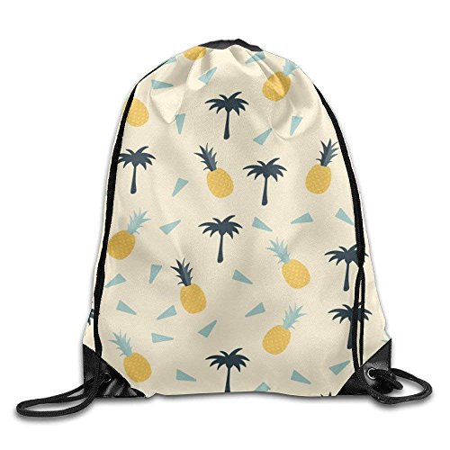 Hip Hop Kordelzugbeutel Gymnastikbeutel Turnbeutel Rucksack Summer Pattern With Palm Trees And Pineapples Art Design Print Kordelzugbeutel Gymnastikbeutel Turnbeutel Rucksack Rucksack Shoulder Bags Gym Bag