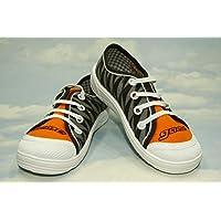 Low - High Top Sneakers Trainers Shoes,Kids, Boys, Girls, Unisex, Lanced, Velcro, Rubber, Slip - on, Nice Multicoloured, Sizes from 8/8,5UK - 26EU, 9UK - 27EU, 10UK - 28EU, 11UK - 29EU, - Orange Shock (8UK/8.5UK - 26EU)