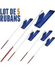 Lot de 5 Rubans de GRS 4 mètres Bleu