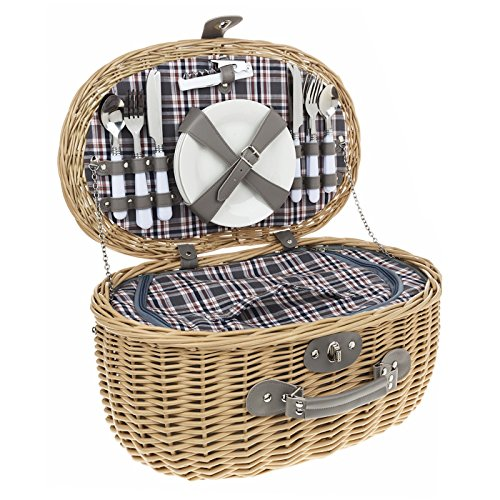 4-person-oval-brown-checked-fitted-picnic-basket