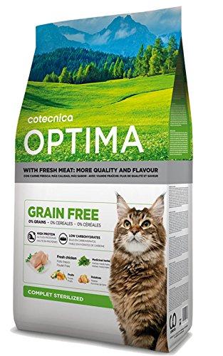 katzeninfo24.de 3kg Optima Cat Grain Free Sterilised getreidefrei Katzenfutter