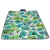 Y56(TM) | Tropische Blätter | Wasserdicht Draussen Picknickdecke Campingdecke Falten Reise Campingplatz Strandmatte Picknickdecken