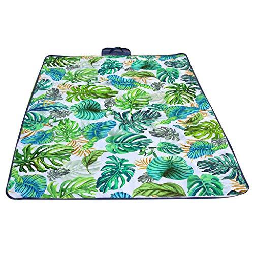 EUCoo_swimsuit Eucoo Picknickdecke Strand Freizeit Wasserdicht Familie Im Freien Camping Teppich Strandmatte Tropische BläTter(148x200cm)