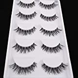 5 Pairs Natural Look Fake Eye Lash False Eyelashes Extension Makeup
