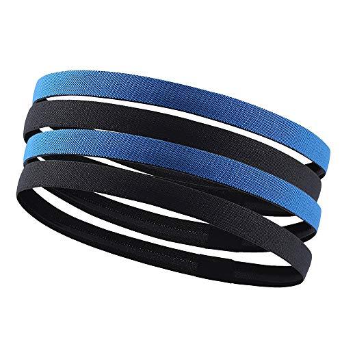 Atmungsaktives und schnell trocknendes Stirnband Sport Stirnbänder Haar Kopfband wickelt Headwear Kopf Schweißband rutschfeste elastische dünne Dehnbare leichte bequem für Frauen Männer Fitness-Übung