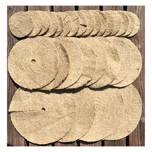 Lot de plusiers Tapis de toile de jute contre les mauvais herbes 25cm, 20cm et 10cm