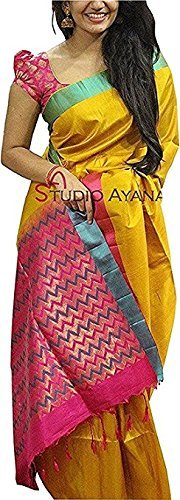 Sarees (for Women Party Wear offer Sarees New Collection Today Low Price Sarees in Multi-coloured Bhagalpuri Silk Material Latest Saree With Blouse Free Size Beautiful Sarees With Blouse