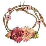 cuigu Mujer 1.5m floral cinta de pelo, larga flor bohemia. Cinta Cinturón