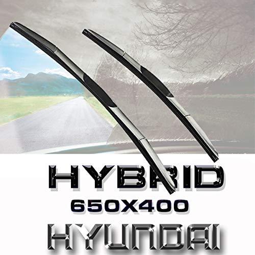 Jurmann Trade GmbH® 2X Hybrid 650/400 mm Scheibenwischer Hakenbefestigung Aero Japan-Technologie Premium Qualität Vorne Accent IV Stufenheck; Geness; i40; i40 CW; Tucson