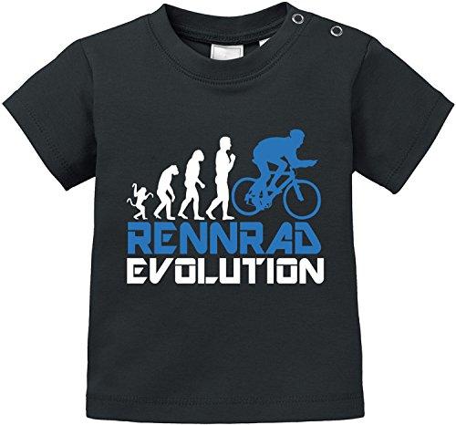 EZYshirt Rennrad Evolution Baby T-Shirt