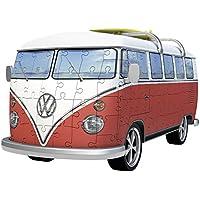 Ravensburger Volkswagen T1 Puzzle, Color Blanco/Rojo (Ravesnburger 12516)