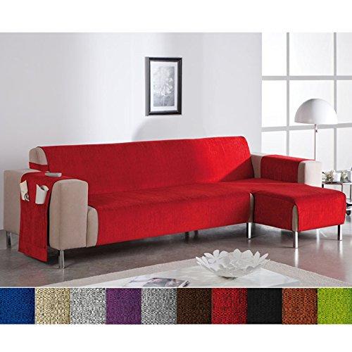 Funda Cubre Chaise Longue Modelo Leonor, Color Gris, Medida Brazo DERECHO – 240cm (Mirándolo de frente)