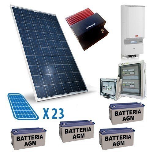 PuntoEnergia Italia - Impianto Fotovoltaico Connesso in Rete 6Kwp con 9.6Kw di Accumulo Monofase - IFRAMO-6000