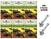 Mighty Leaf Tea , Green Tea Tropical ,(with FREE Tea Bag Squeezer) (6 Pack)