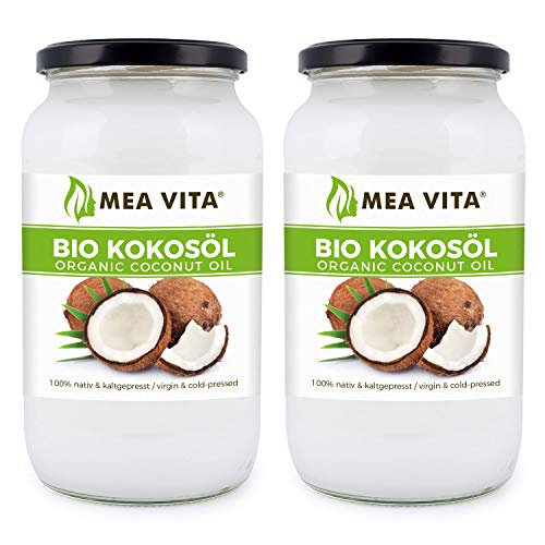 MeaVita Bio Kokosöl, nativ, 2er Pack (2 x 1000ml)