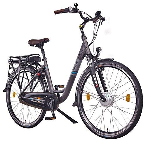 """NCM Munich N7C,28"""" Zoll Elektrofahrrad Herren/Damen Unisex Pedelec,E-Bike,City Elektrofahrrad mit Rücktrittbremse, 36V 250W 14Ah Lithium-Ionen-Akku mit 504Wh PANASONIC Zellen, anthrazit"""