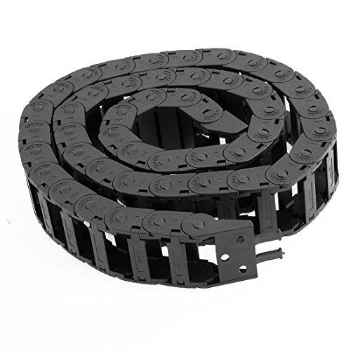 15mm x 30mm en plastique noir semi-flexible fermé Transporteur chaîne Frein Câble 1.1m