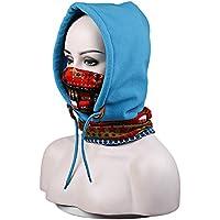 Zhuhaimei,El paño grueso y suave al aire libre espesa el casquillo a prueba de viento del casquillo de la máscara del cuello para el snowboard del esquí del motociclismo(color:AZUL,size:Escena de la vida)