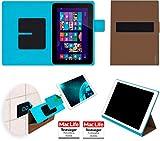 reboon Hülle für HP Omni 10 Tasche Cover Case Bumper | in Braun | Testsieger