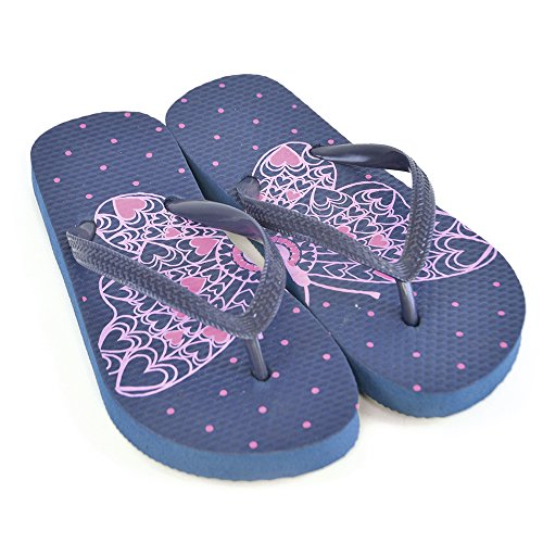GIRLS BUTTERFLY 1/2 AND 1/2 PRNT FLIP FLOP