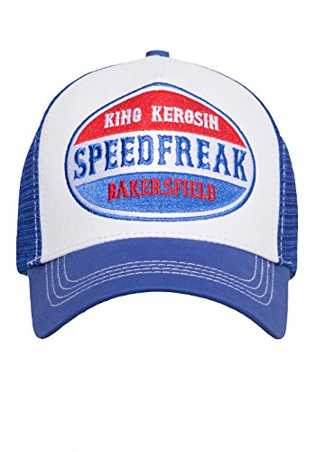 King Kerosin Herren Trucker Cap Mit Mesh Einsatz Speedfreak Vintage Stickerei Trucker Cap Speedfreak