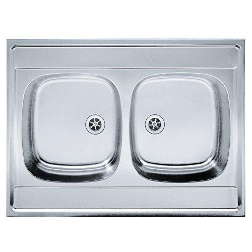 Franke 103.0205.567seta per lavello da cucina con ciotola doppia in acciaio da Franke Daria Dsn, grigio