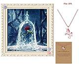 Gemini_mall® 5D Diamond Painting Full Kits DIY Handmade Rhinestone Embroidery Cross-Stitching Set Mosaic Home Room Decoration Red Rose
