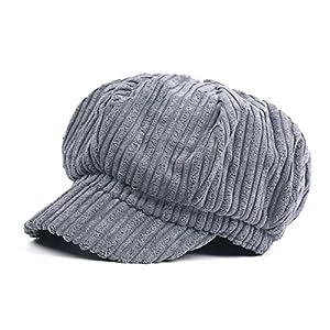 YMFIE In autunno e in inverno sono caldi e semplice striped Beret Hat,B