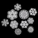 85 Fensterdeko Schneeflocken NICEXMAS Fenster...Vergleich