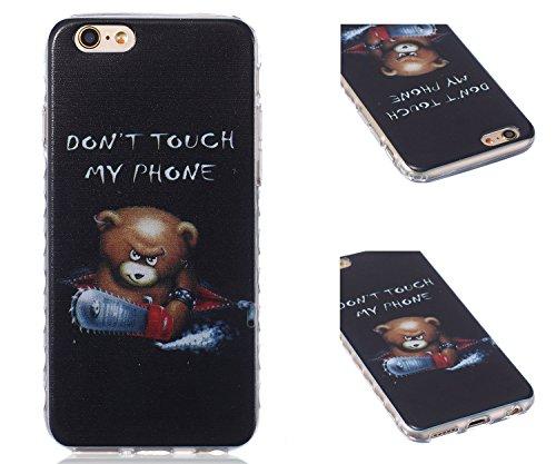 ZeWoo TPU Schutzhülle - BF031 / I Love Giraffe - für Apple iPhone 6 (4,7 Zoll) Silikon Hülle Case Cover BF033 / Don't touch my phone(Bär)
