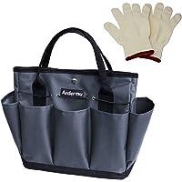 Ardermu Gartenwerkzeug Tasche - Gartenwerkzeug Aufbewahrungstasche - Gartengeräte Tasche mit 8 Taschen Oxford Tuch - für…