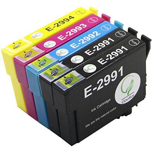 GOOTIOR Remplacement pour Epson29 29xl T2991XL T2992 T2993 T2994 cartouches d'encre compatible pour Epson Expression Home XP-235 Xp-245 XP-335 Xp-342 XP-432 Xp-442 Xp-247 Xp-330 Xp-332 Xp-345 Xp-430 Xp-435 Xp-445 Printer (2BK 1 C 1 m 1Y)