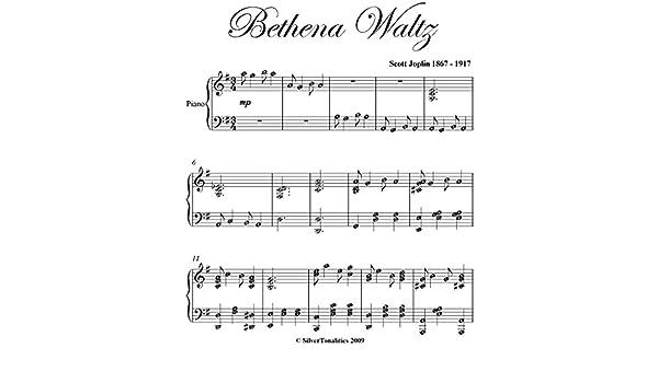 Bethena Waltz Scott Joplin Intermediate Piano Sheet Music eBook