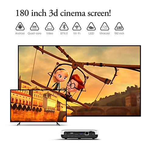 Wowoto H8 Video Projector 3d Dlp Projector 1280x800
