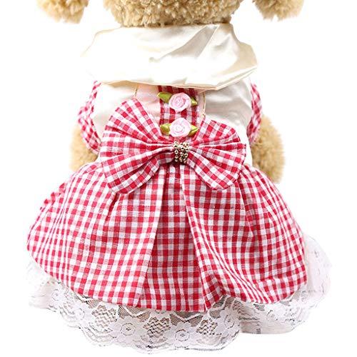 Hundebekleidung Hunde Kleid Pet Dog Dress Dog Kleidung Elegante Prinzessin Dress Tutu Queen Style für kleine Sommer Mode Mesh Spitze Kleid Hund Niedlich Kleid Blumen Kleider (XL, ()