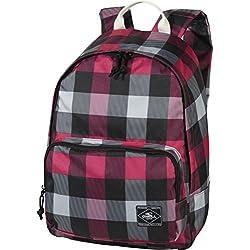 O´Neill AC Coastline Backpack - Mochila, color rosa con cuadros blancos y negros