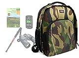 Duragadget Sac à Dos Camouflage Kaki à Compartiments pour la randonnée et Le Trekking - poignée et lanières rembourrées