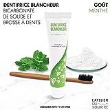 Dentifrice blancheur au bicarbonate L'ATELIER DU SOURIRE - dentifrice sans dioxyde de...