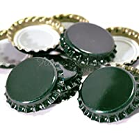 (Dark Green 100 Pk) - Crown Caps Dark Green 100 pk