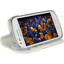 Mumbi - Funda de piel estilo libro para Samsung Galaxy S3 mini i8190, color blanco