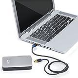 deleyCON [1m] USB 3.0 Super Speed Kabel – USB A-Stecker zu USB A-Stecker – USB 3.0 Super Speed Technologie – Übertragungsraten bis zu 5Gbit/s – geschirmtes, flexibles PREMIUM USB 3.0 Kabel – schnelle und sichere Datenübertragung – abwärtskompatibel zu USB 2.0 / USB 1.1 – Farbe: Schwarz/Blau - 6