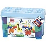 Ecoiffier - 7781 - Baril 50 Briques - Animaux à Construire - Les Maxi - Abrick - Bleu